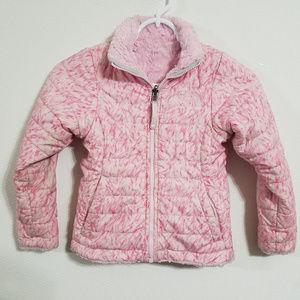 North Face Girls XS Pink Reversible Puffer Jacket